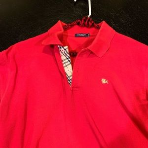 Burberry polo red size medium